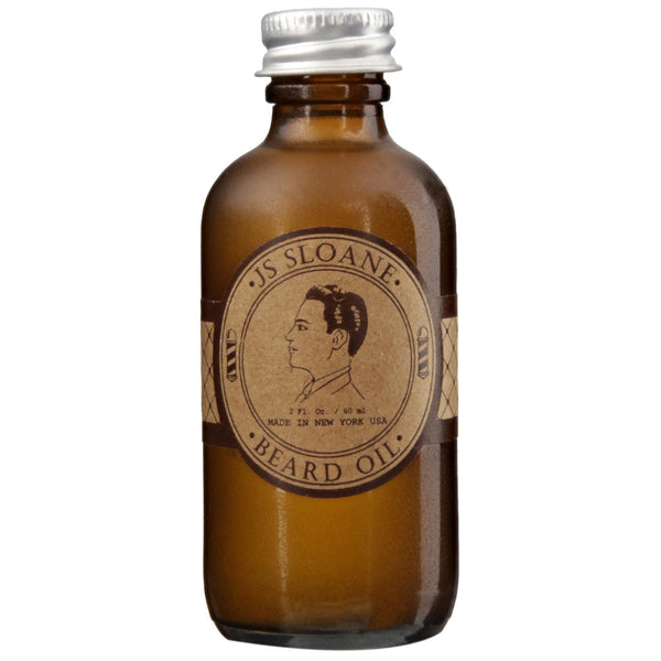 JS Sloane Beard Oil Front Label