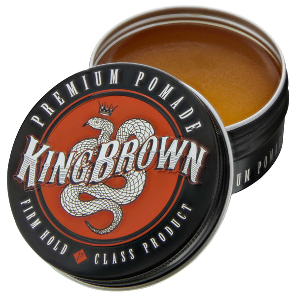 King Brown Premium Pomade- Open