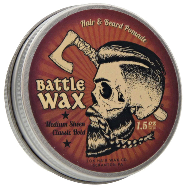 Lox Battle Wax Hair and Beard Pomade Top Label