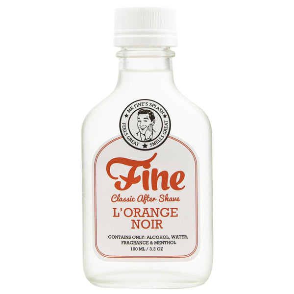 Mr. Fine L'Orange Noir After Shave bottle front label