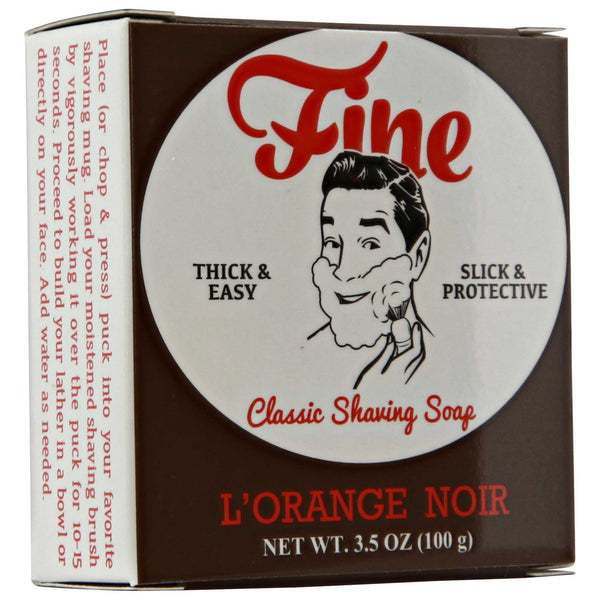 Mr. Fine L'Orange Noir Shave Soap Box