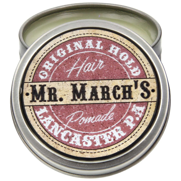 Mr. March's Original Pomade Open