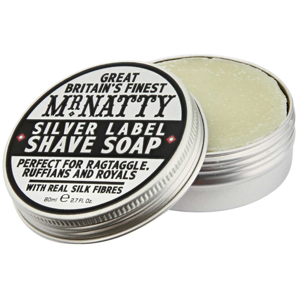 Mr Natty Silver Label Shave Soap Open