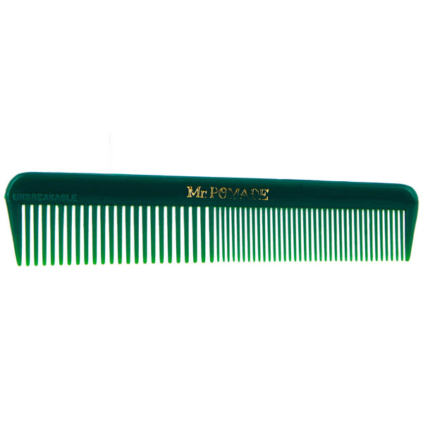 Green Mr. Pomade Pocket comb for daily travels