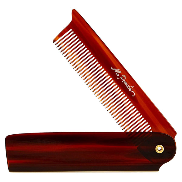 Mr. Pomade Premium Folding Comb that is Saw cut, hand polished and buffed
