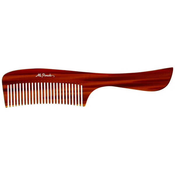 This comb is Saw cut, hand polished and buffed to create soft rounded teeth