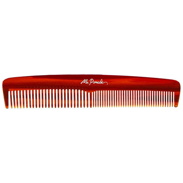 a great travel comb that helps you style your hair with pomade or wax