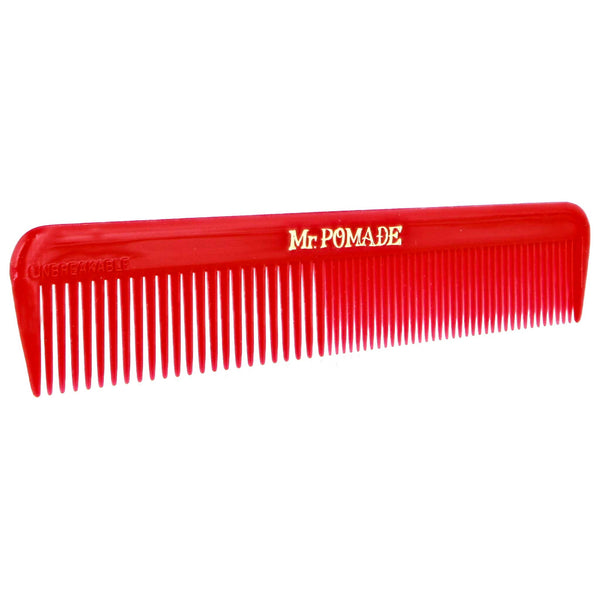 Fine and coarse toothed comb Red Mr. Pomade pocket comb