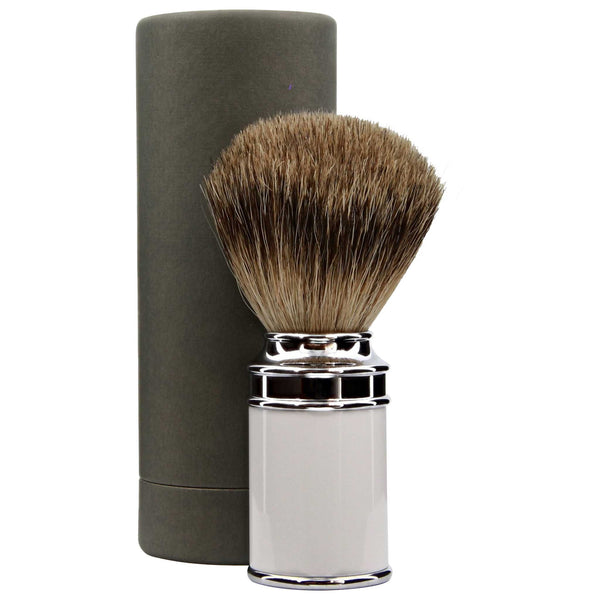 white shave brush that is expensive but worth it