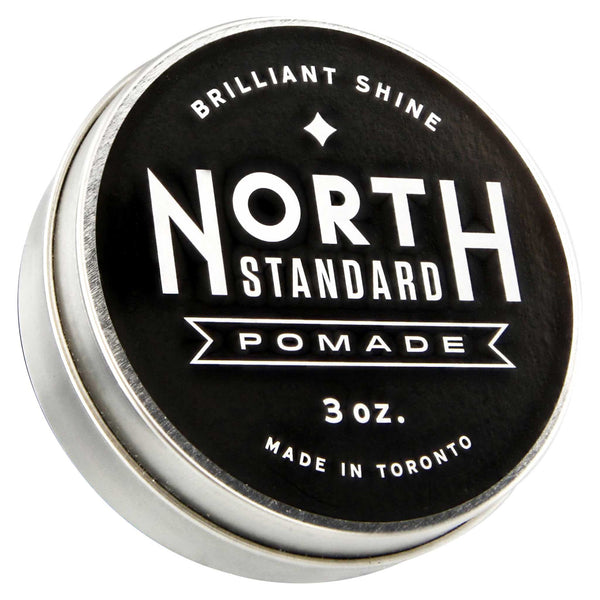 North Standard Pomade container with top label