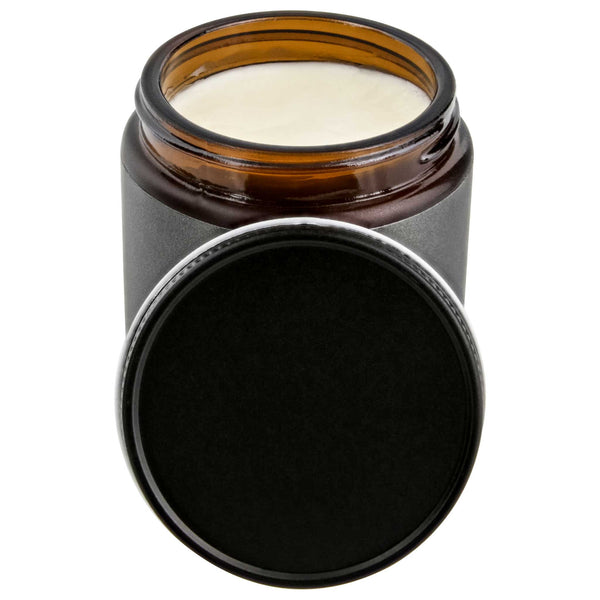 open jar of strong water soluble pomade