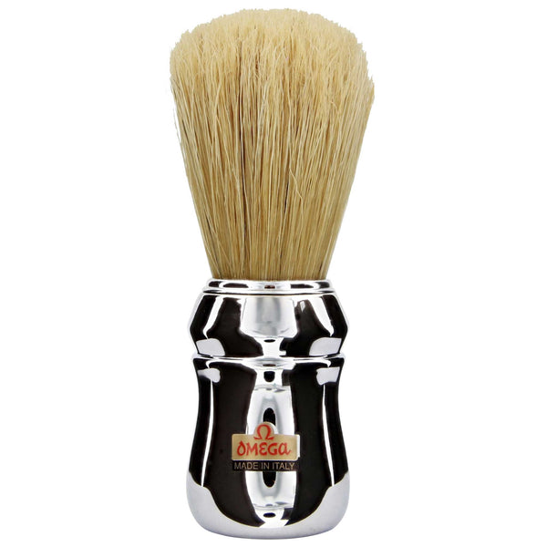 chrome handled shaving brush for beginners to wet shaving