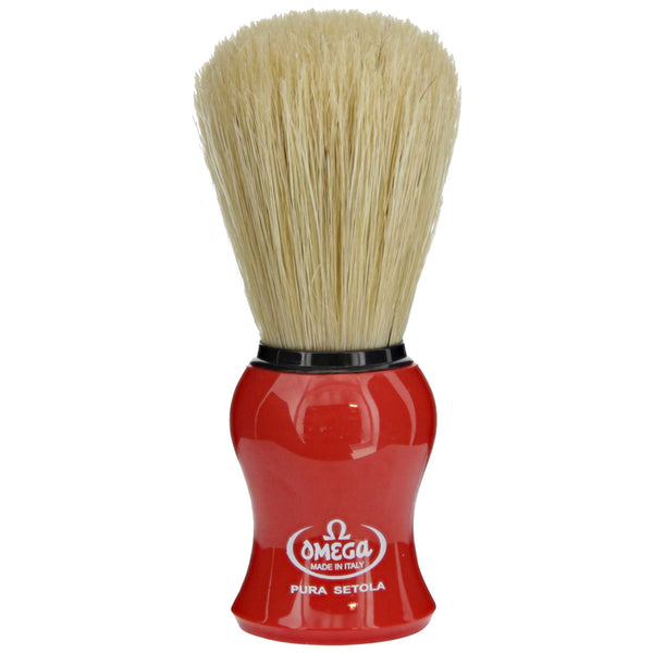 Red Omega Shaving Brush with Boar Hair
