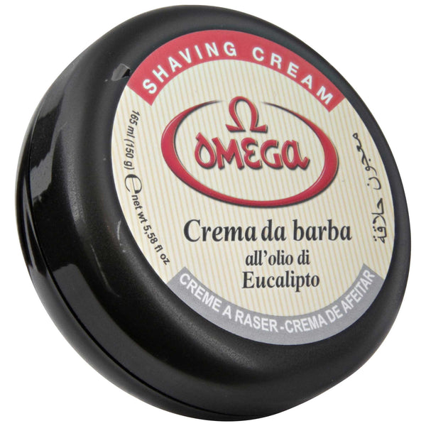 omega eucalyptus shaving cream with bowl