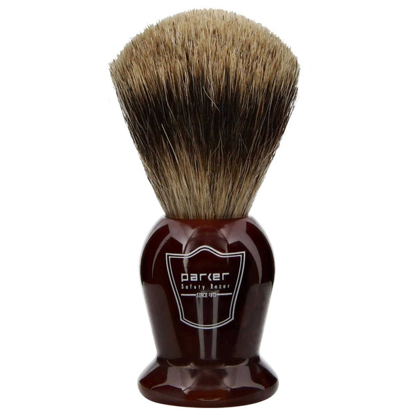 great lathering brush that has some bristles  shaving cream into your beard exfoliating the skin