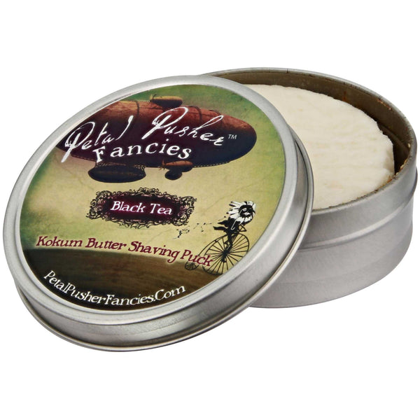Petal Pusher Fancies Kokum Butter Shave Soap Black Tea Open