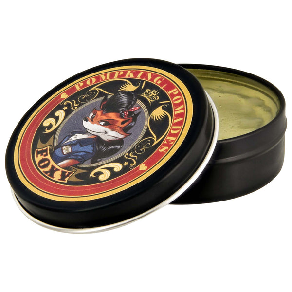 Pompking Foxy water based pomade can open
