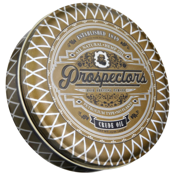Prospectors Crude Oil Pomade 15 oz Top Label