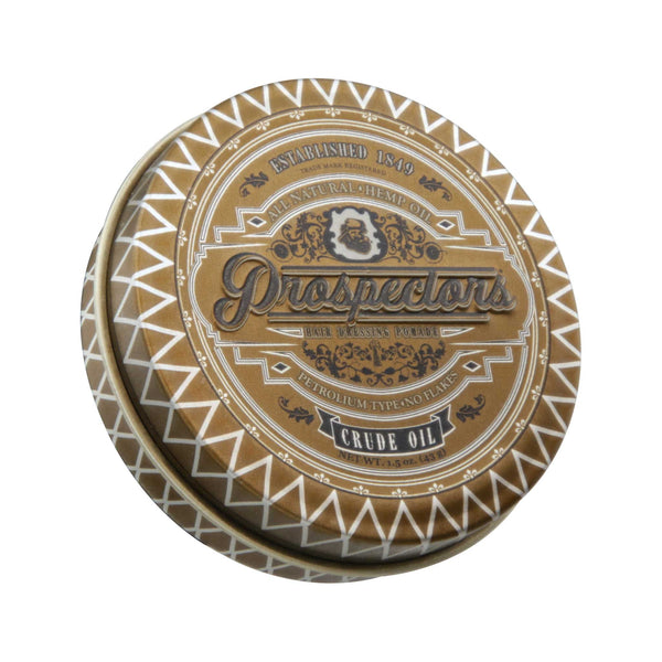 Prospectors Crude Oil Pomade 1.5 oz Top Label