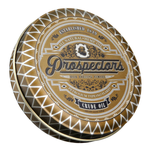 Prospectors Crude Oil Pomade Top Label