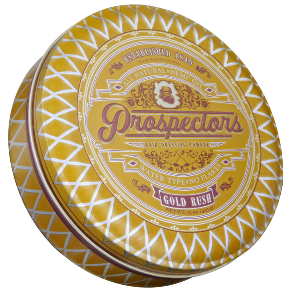 Prospectors Gold Rush Pomade 15 oz Top Label
