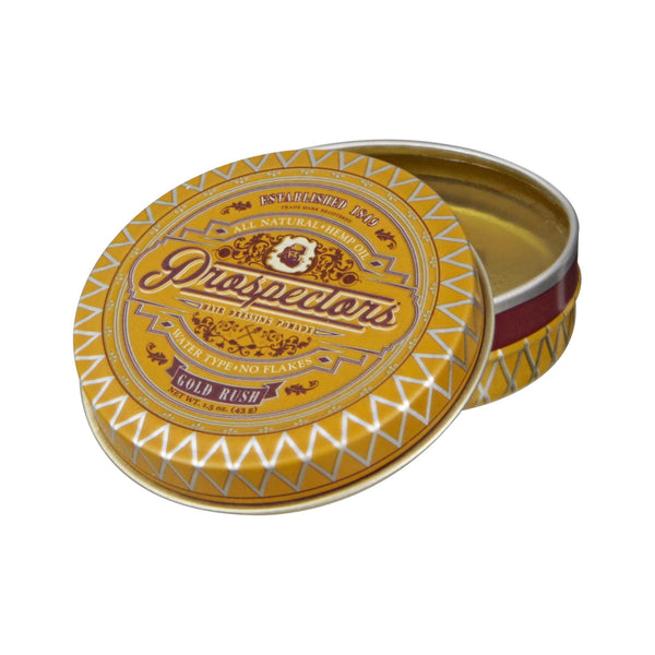 Prospectors Gold Rush Pomade 1.5 oz Open