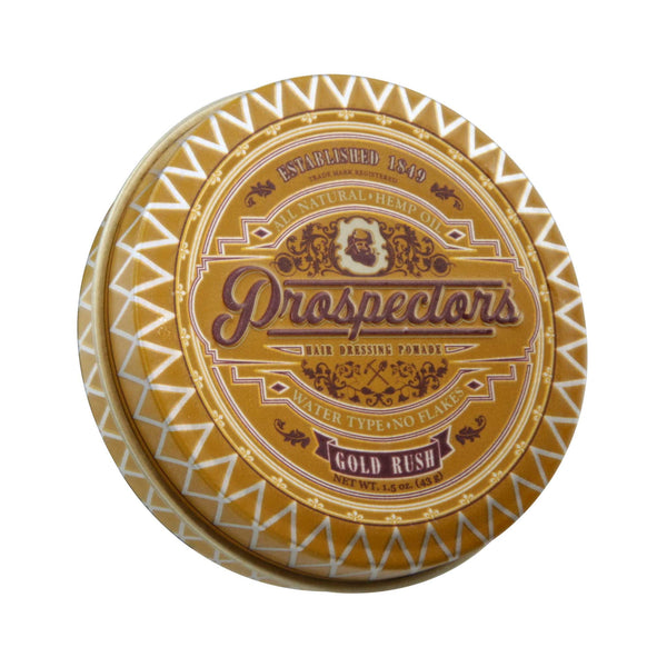 Prospectors Gold Rush Pomade 1.5 oz Top Label