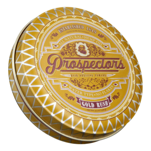 Prospectors Gold Rush Pomade Top Label