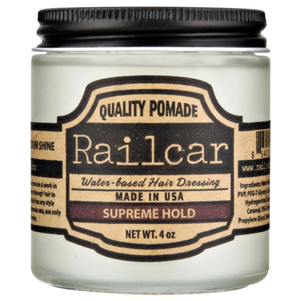 Railcar Pomade Supreme Hold Side Label