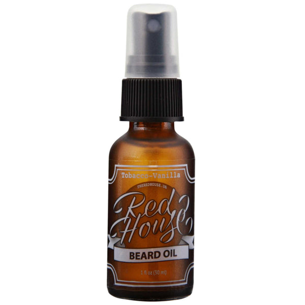 Red House Beard Oil Front Label