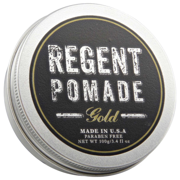 Regent Pomade Gold Top Label