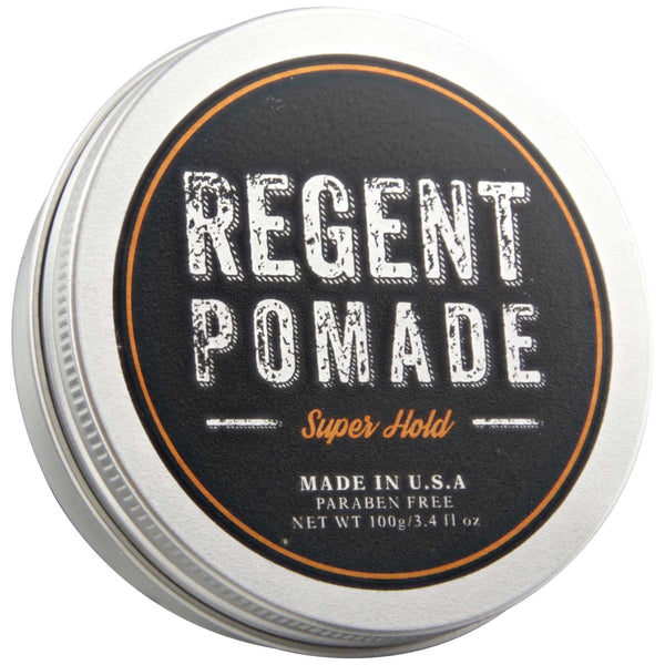 Regent Pomade Super Hold Top Label