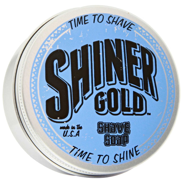 Shiner Gold Shave Soap Top Label