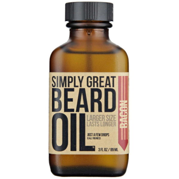 Simply Great Beard Oil Bacon Scent Front Label