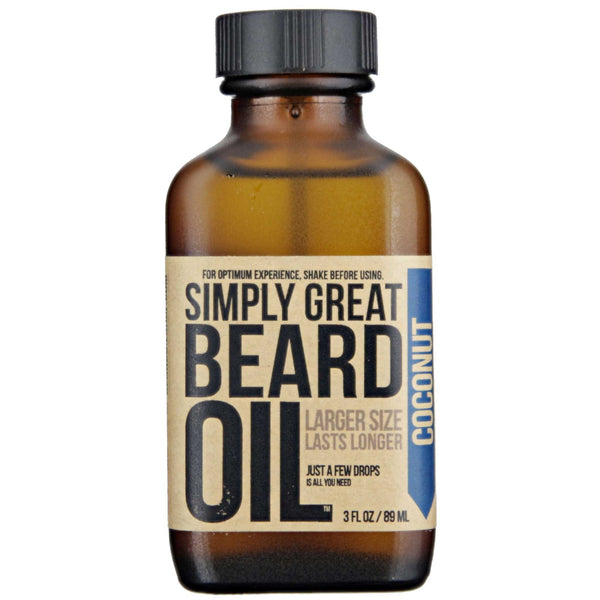 Simply Great Beard Oil Coconut Scent Front Label