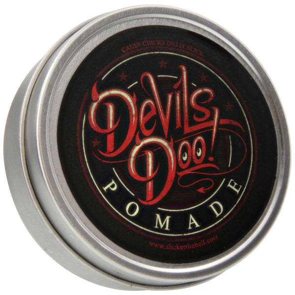 Devils Doo Pomade Top Label
