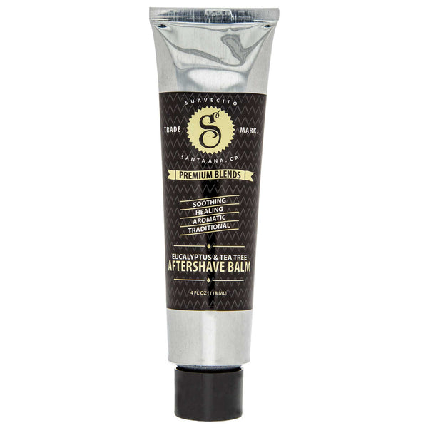 soothing nourishment and relief from Suavecito Premium Blends, Eucalyptus & Tea Tree Aftershave Balm