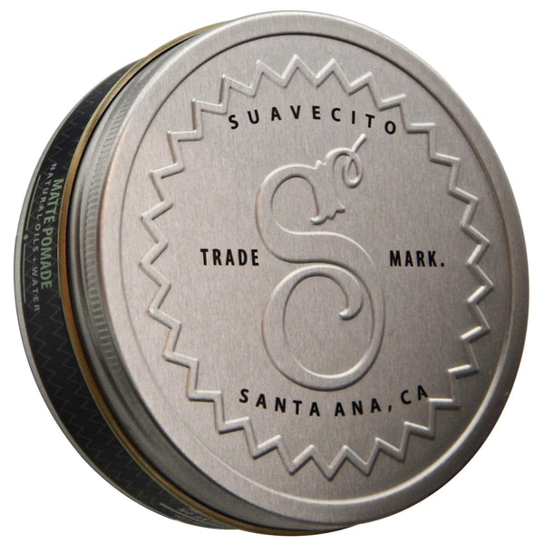 Suavecito Premium Blends Matte Pomade Top Label