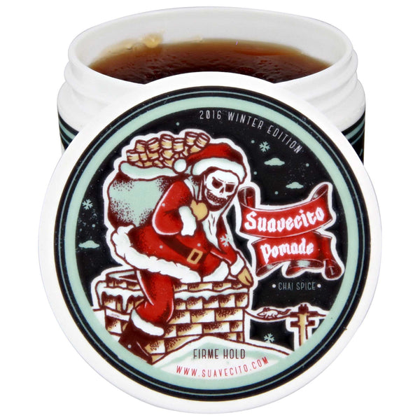 Suavecito Firme Hold Winter Pomade Open