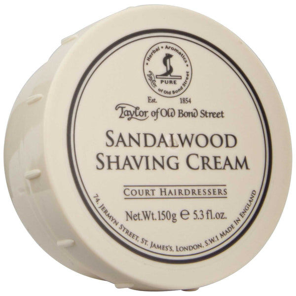 Top label of Taylor of Old Bond Street Sandalwood Shave Cream