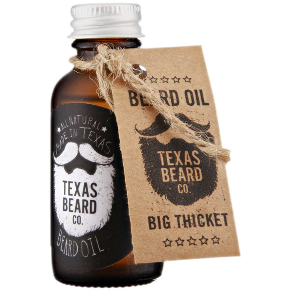 Texas Beard Co. Big Thicket Beard Oil Side Label