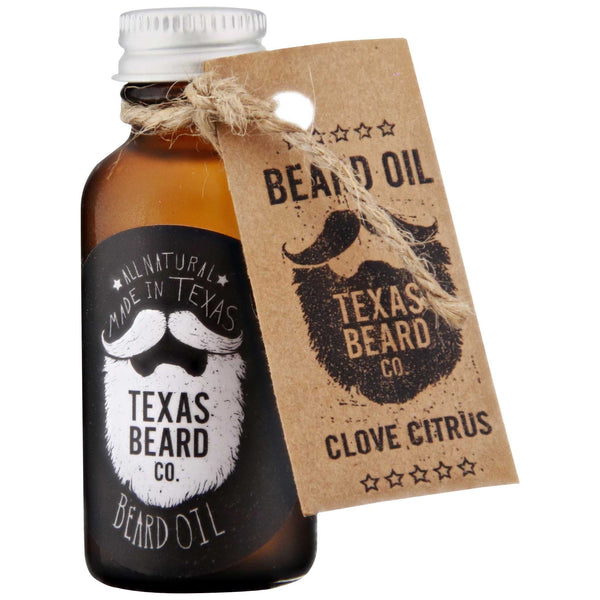 Texas Beard Co. Clove Citrus Beard Oil Front Label