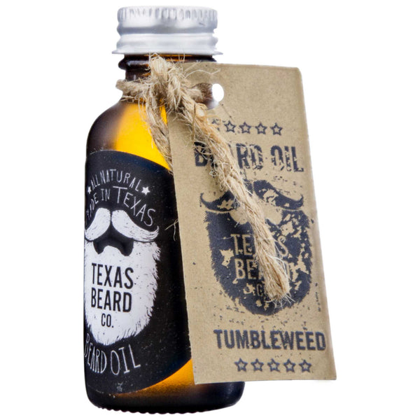 Texas Beard Co. Tumbleweed Beard Oil Side Label