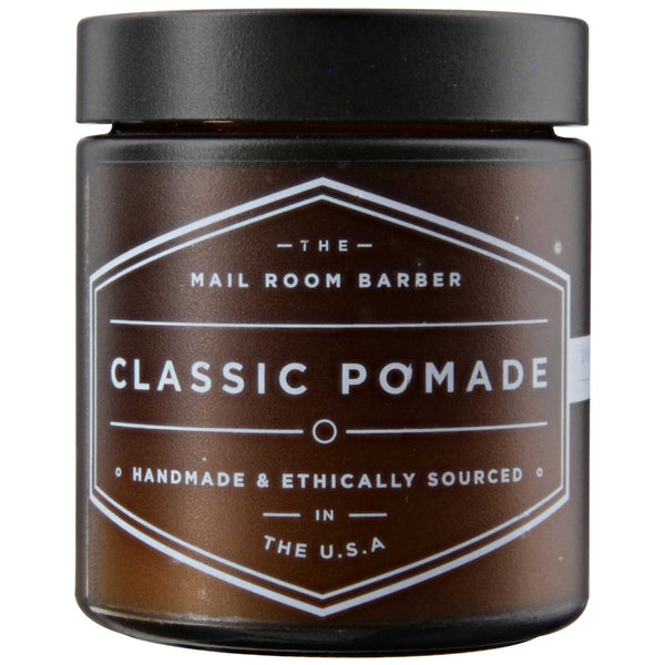 The Mail Room Barber Classic Pomade Side Label