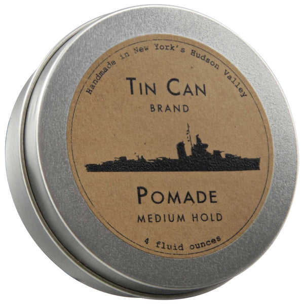 Tin Can Pomade Top Label