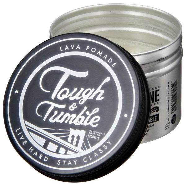 Tough & Tumble Solid & Shine Lava Pomade Open