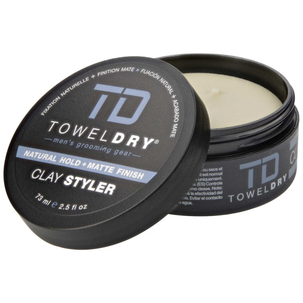 TowelDry Clay Styler Pomade Open