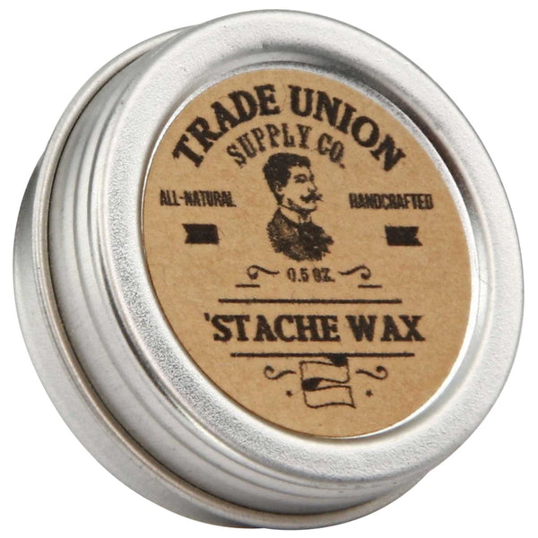 Trade Union Supply Stache Wax Top Label