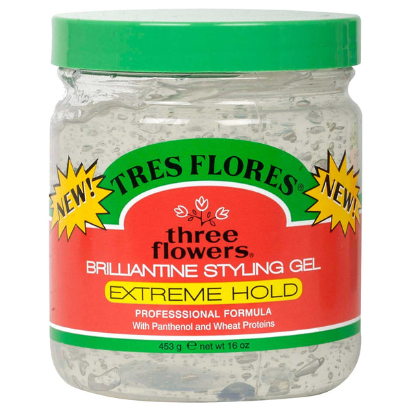 Tres Flores Brilliantine Styling Gel, Extreme Hold
