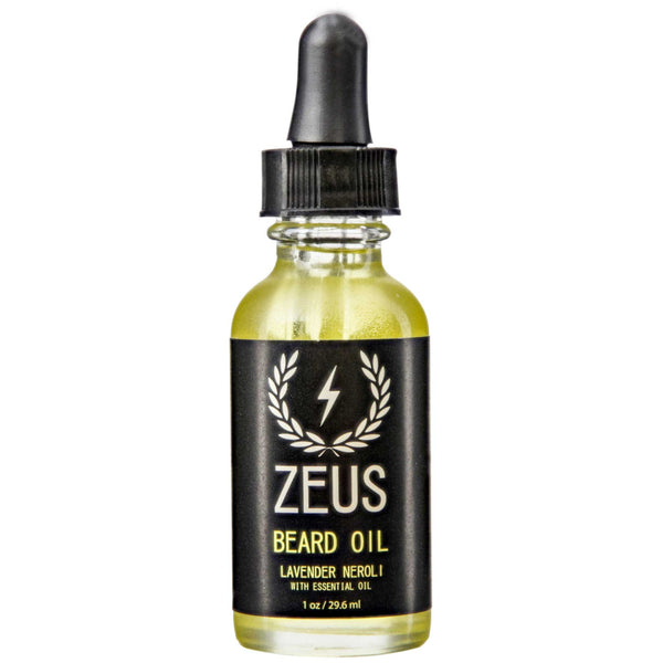 Zeus Lavender Neroli Beard Oil Front Label